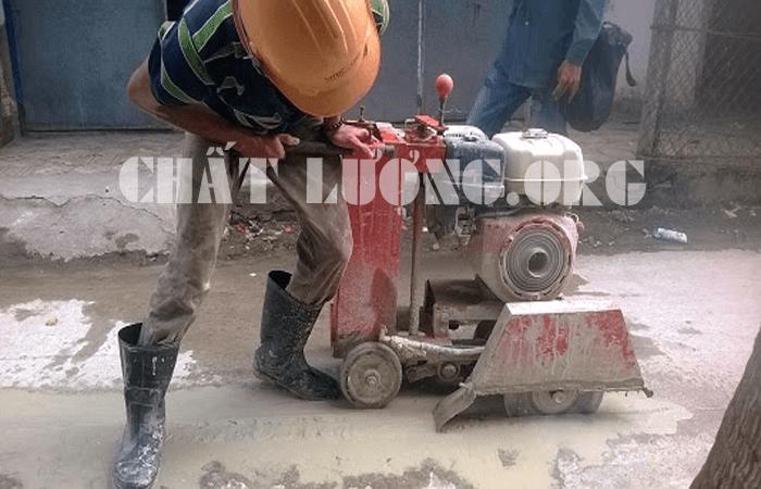 Khoan cắt, rút lõi bê tông ở phường Lê Đại Hành