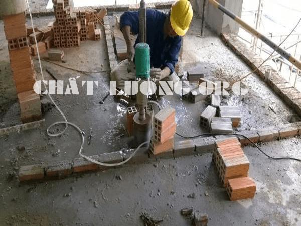 Khoan cắt, rút lõi bê tông ở phường Giáp Bát