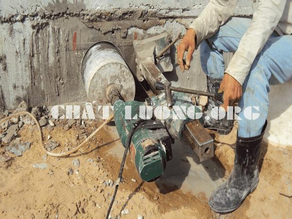 Khoan cắt, rút lõi bê tông tại phường Mai Dịch