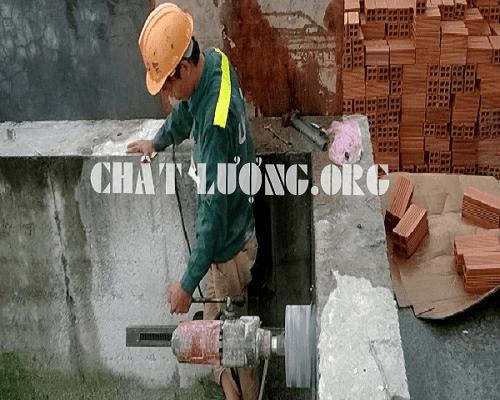 Khoan cắt, rút lõi bê tông ở phường Văn Miếu