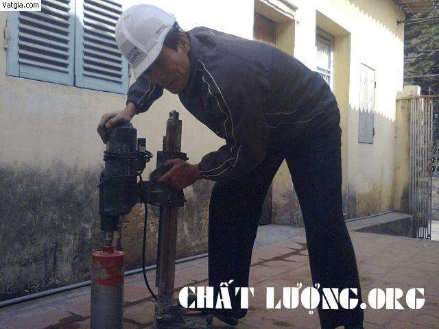 Khoan cắt, rút lõi bê tông tại quận Thanh Xuân