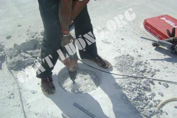 Khoan cắt, rút lõi bê tông tại quận Cầu Giấy